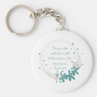 Grass Withers and the Flowers Fall Key Ring