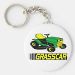 Grasscar T-shirts and Gifts. Basic Round Button Key Ring