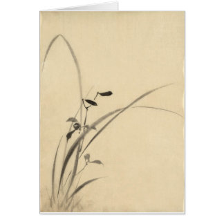Grasses Hokusai 葛飾北斎 Greeting Card