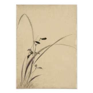 Grasses Hokusai 葛飾北斎 Poster