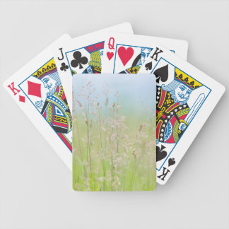 Grasses in motion bicycle playing cards