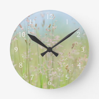 Grasses in motion round clock
