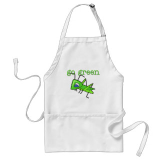 Grasshopper Go Green T-shirts and Gifts Adult Apron