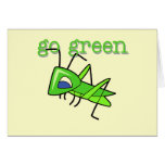Grasshopper Go Green T-shirts and Gifts Card
