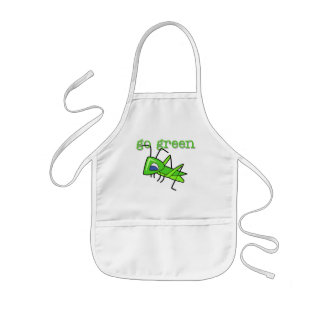 Grasshopper Go Green T-shirts and Gifts Kids Apron