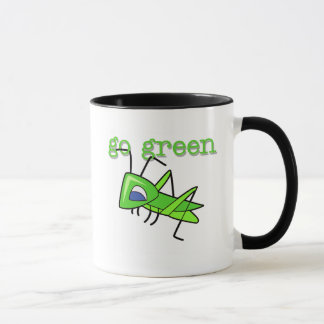 Grasshopper Go Green T-shirts and Gifts Mug