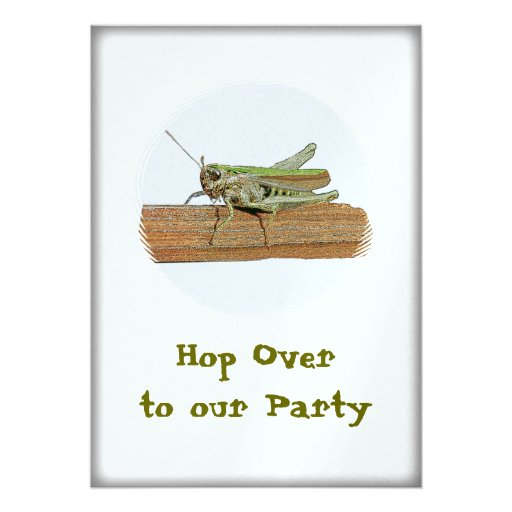 Grasshopper Hop Over To Our  Party Custom Announcement