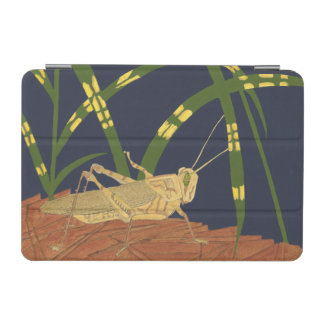 Grasshopper in Green Grass on Blue Background iPad Mini Cover