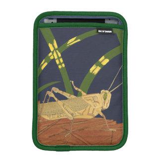Grasshopper in Green Grass on Blue Background iPad Mini Sleeve