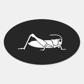 Grasshopper Oval Sticker