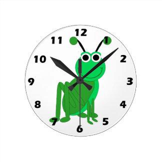 Grasshopper Round Clock
