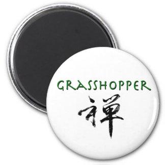 Grasshopper with Zen symbol Fridge Magnet