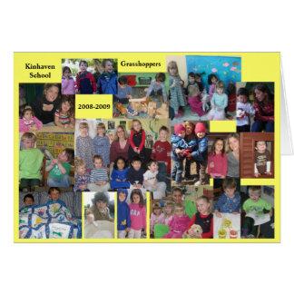 Grasshoppers appreciation - for aux. teachers card