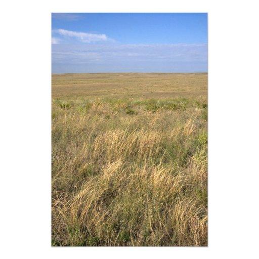 Grassland prairie east of Sidney, Nebraska. Photographic Print