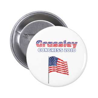 Grassley Patriotic American Flag 2010 Elections 6 Cm Round Badge