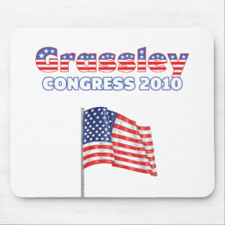 Grassley Patriotic American Flag 2010 Elections Mouse Pad