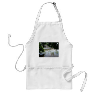 Grassy Lake with Tree Branch Adult Apron