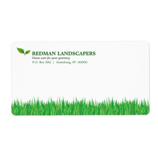 Grassy Landscape Shipping Label