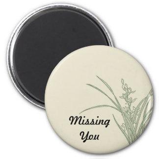 Grassy Landscape Sketch Missing You Magnet