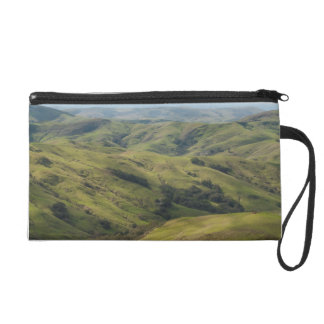 Grassy Pastures above Pacific, Cambria California Wristlet Clutches
