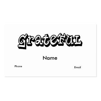 Grateful Business Cards