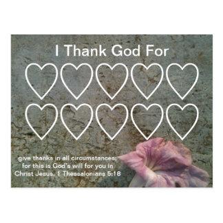 Grateful Christian Cards Postcard