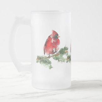 """Grateful Heart"" Watercolor Cardinal Frosted Mug"
