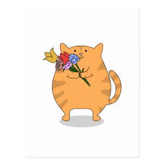 Grateful Kitty Postcard