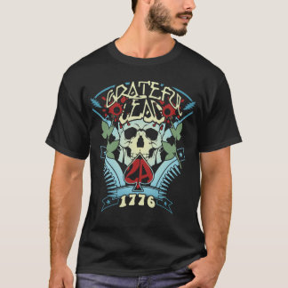 Grateful Lead - 2A -2nd Amendment 1776 - Blue Fade T-Shirt
