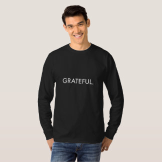 Grateful Long-Sleeve (white lettering), Men's T-Shirt