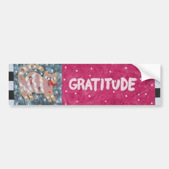 Gratitiude Bumper Sticker