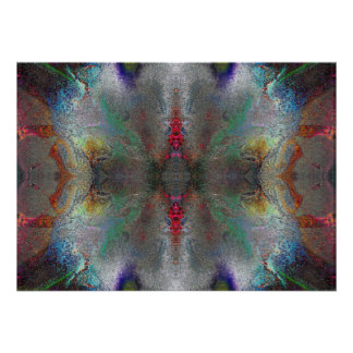 """Gratitude"" Abstract Chakra Meditation Art Poster"