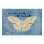 Gratitude Attitude Butterfly Poster