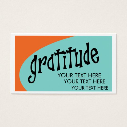 Gratitude Business Cards