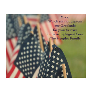 Gratitude for your Service Wood Prints