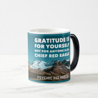 Gratitude is for yourself quote magic mug