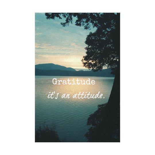 Gratitude: It's an Attitude Quote Canvas Print
