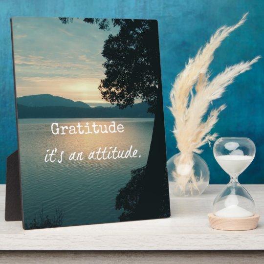 Gratitude: It's an Attitude Quote Plaque