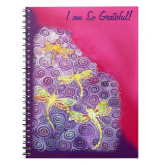 Gratitude Journal: Dragonfly Silk Image by Cyn Mc Notebooks