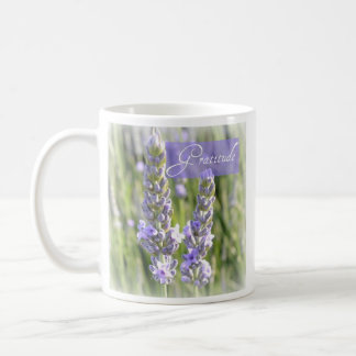 Gratitude Lavender Floral Coffee Cup Mug