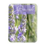 Gratitude Lavender Flowers Magnet