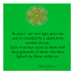 Gratitude Mandala Poster