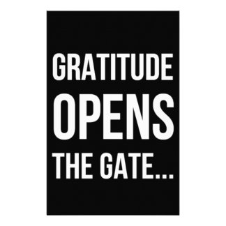 Gratitude Opens The Gate inspirational quote Customized Stationery