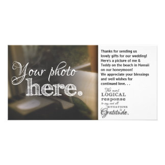 Gratitude Quote Inspirational Blessing Mandala Art Personalized Photo Card