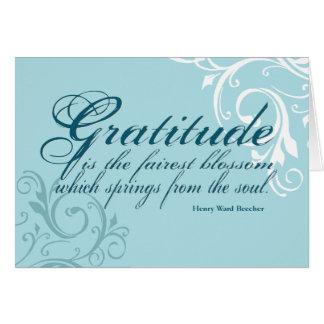 Gratitude Quote www.sobercards.com Greeting Card