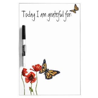 Gratitude Reminder List for Your Fridge Dry Erase Board