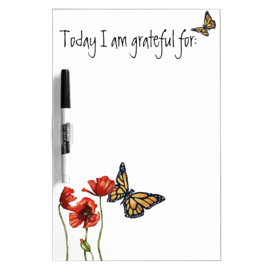 Gratitude Reminder List for Your Fridge Dry Erase