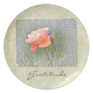 Gratitude Rose with Lavender Dinner Plates