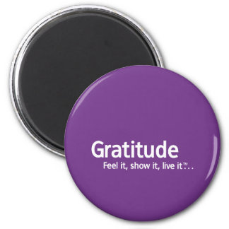 Gratitude - Thought Shapers™ 6 Cm Round Magnet