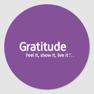 Gratitude - Thought Shapers™ Round Sticker